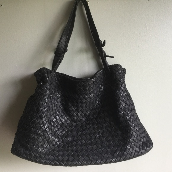96c73f27710a Tano Woven Leather Handbag